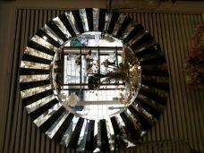 Espelho Preto c/ Cubismo - 80 cm