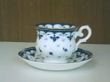 Xícara de Chá Blue Leaf - 6 pçs