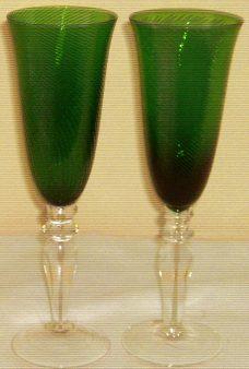 Taça de Espumante Verde - 6pçs