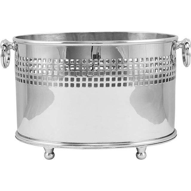 Cachepo Oval em Metal Home&Co