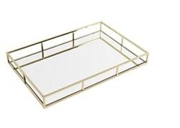 Bandeja Dourada Espelhada - 35cm