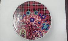 Prato de Bolo de Porcelana com Alce na base 30 cm