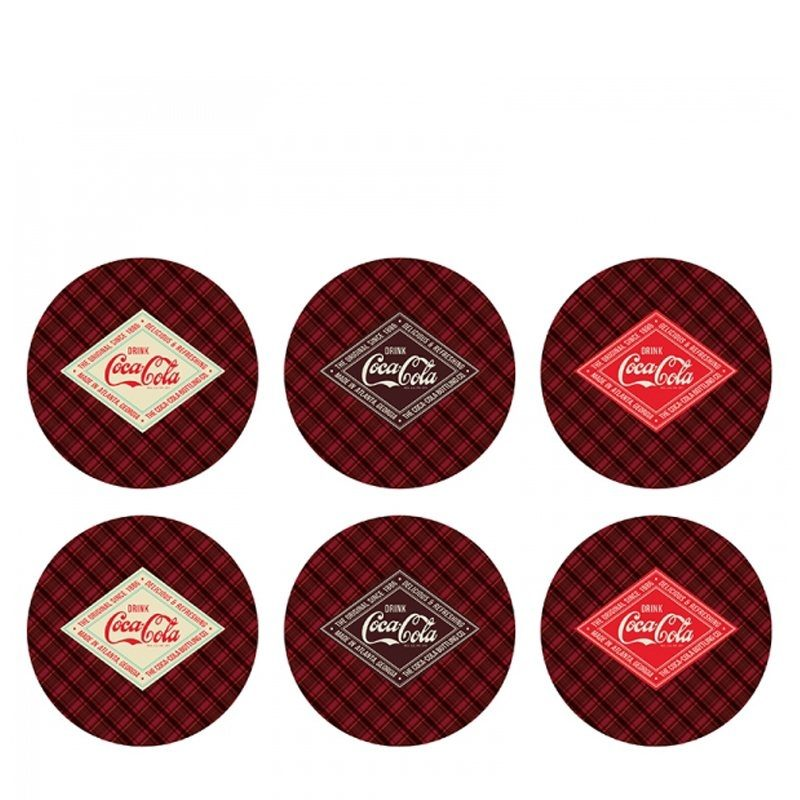 Porta Copos Coca Cola - 6pçs