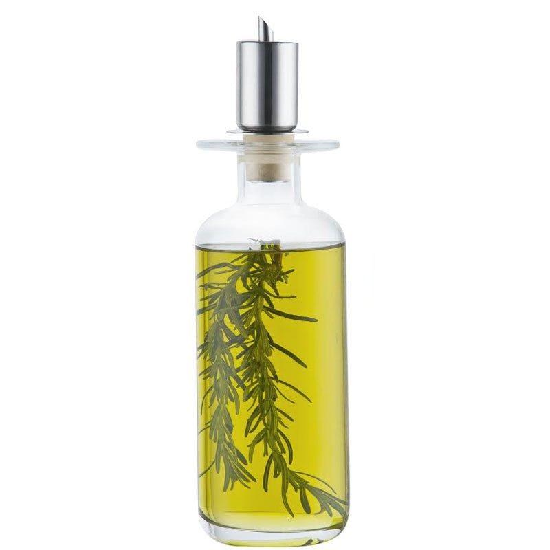 Garrafa p/azeite c/tampa inox Mediterrâneo 650 ml