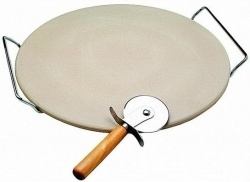 Conjunto Pizza com Pedra 33cm - 3 pçs