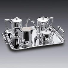 Aparelho para Chá e Café Liso em Prata 5 peças