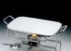 Rechaud Aramado Prata c/ Chapa de Alumínio - Wollff