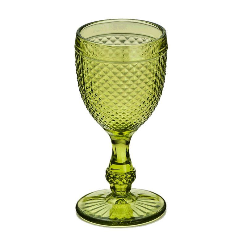 Taça Bico de Jaca Verde - 6 pçs